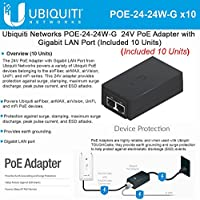 Ubiquiti POE-24-24W-G (10 Units) POE Injector 24VDC 24W Gigabit PoE Adapter