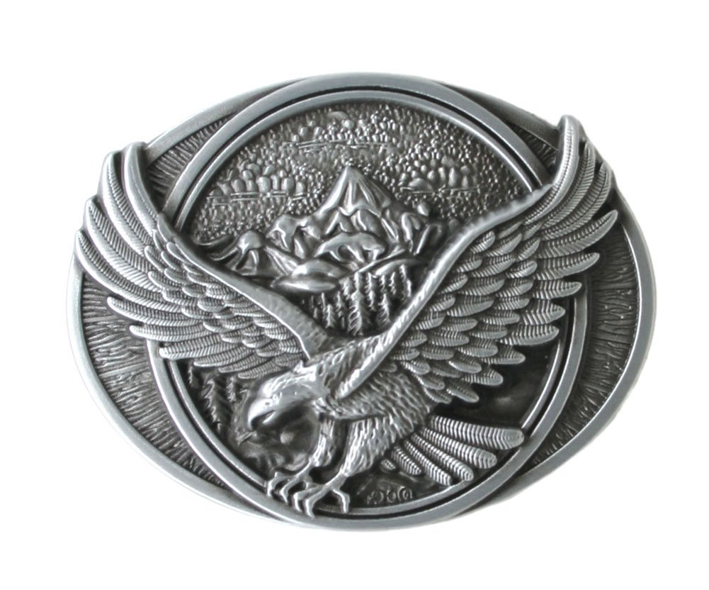 Eagle in Flight Belt Buckle