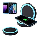 Gotd Qi Wireless Power Charger Charging Pad For Samsung Galaxy S8/S8 Plus (Blue)