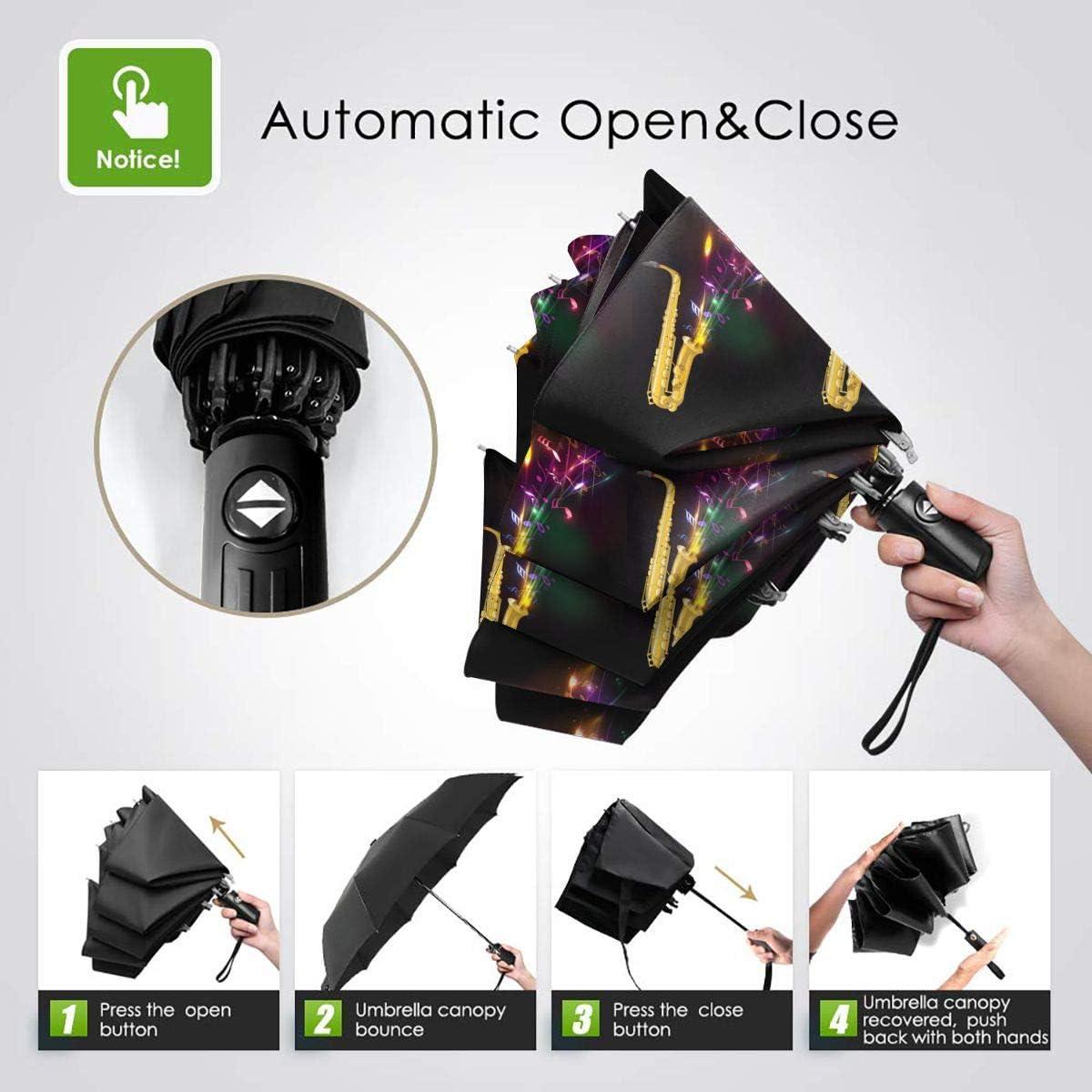 Sax Automatic Tri-Fold Umbrella Parasol Sun Umbrella Sunshade
