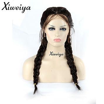 Xiweiya Synthetische Lace Front Perucken Fur Frauen Doppelt