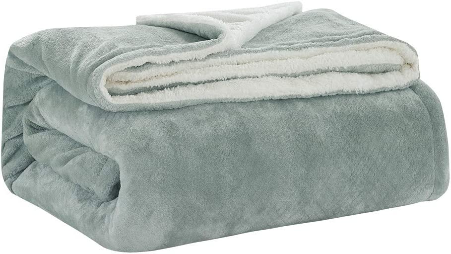 """Yc Sherpa Blanket Emboss Solid Flannel Fleece Blanket Throw Micro White Cozy Sofa Sherpa Plush Blanket for Couch Wrapped Warm 60/""""x80/"""" Two Layers Dark Gray"""