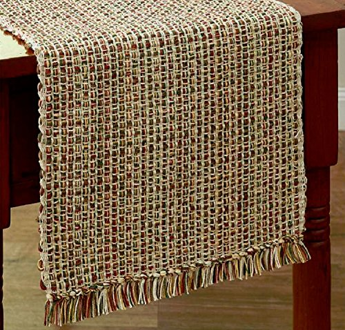 """Park Designs """"Tweed - Spice"""" 36""""L Table Runner - Green, Brow"""