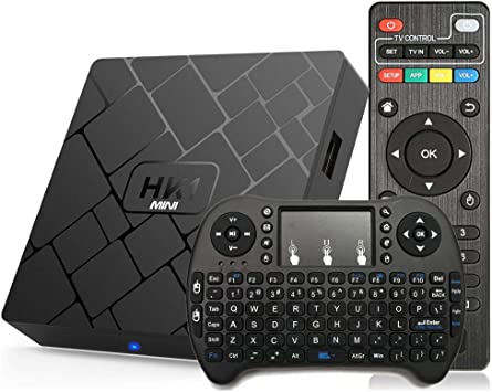 Android 8.1 TV Box Aumkoo HK1 Mini Quad Core 64 bit 2GB RAM + 16GB ROM 4K Smart TV Box H.265 decodificación 2.4GHz WiFi: Amazon.es: Electrónica