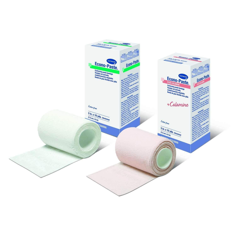 Econo-Paste 47410000 Plus Calamine Bandage 4'' W x 10 yds. L, Latex-Free, Nonsterile. Case of 12
