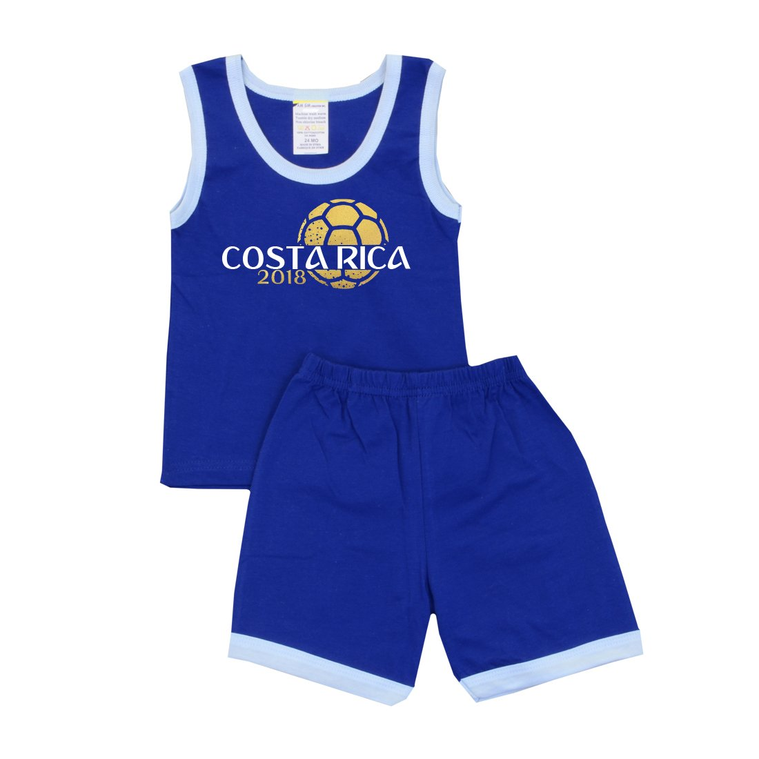 Pam GM Little Boys Soccer Shorts Set World Cup Costa Rica 2018
