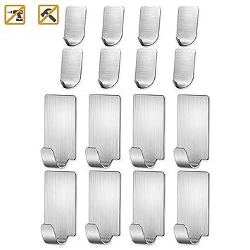 Amazon.com: Bariicare - Ganchos adhesivos de pared de acero ...