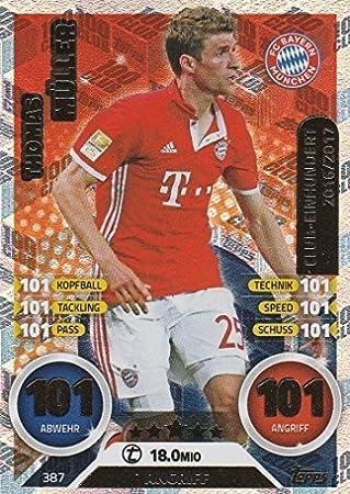 Topps Match Attax 2016//2017 Club 100 389 Manuel Neuer Bayern M/ünchen