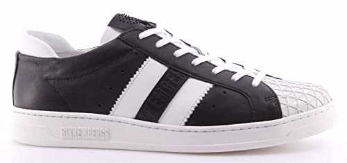Zapatos Hombres Sneakers BIKKEMBERGS BKE108347 Bounce 588 Leather Black White: Amazon.es: Zapatos y complementos