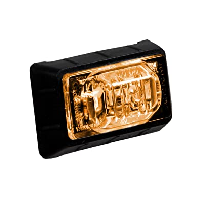 """Maxxima M09360YCL 3 LED Amber Clear Lens 1.5"""" Rectangular Mini Clearance Marker Light: Automotive"""