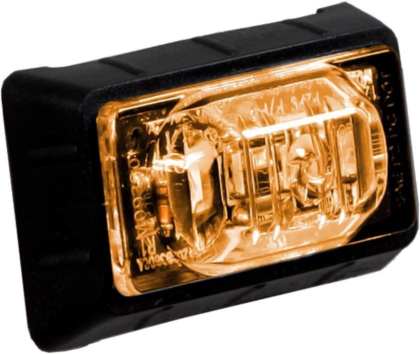 Maxxima M09360Y 3 LED Amber 1.5 Rectangular Mini Clearance Marker Light