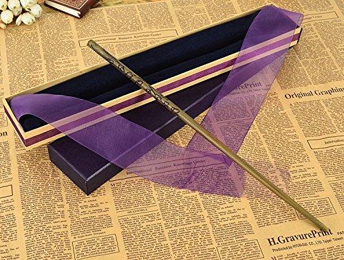 metal / core Luna. Lovegood Magic Wand / H Arry P Otter Magical W And / ribbon elegant gift box. (Luna Lovegood Costume Halloween)