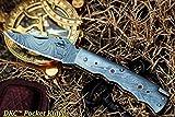 Cheap DKC Knives (2 8/18) Sale DKC-200 Moonraker Pocket Folding Damascus Hunting Knife 8″ Long, 3.25″ Blade 4.75″ Folder 10oz Work of Art !