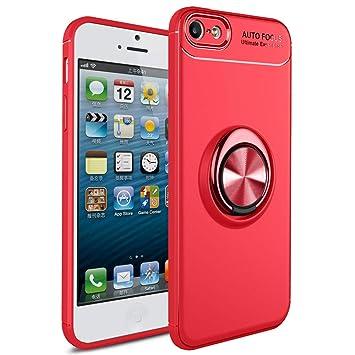SORAKA Funda para iPhone 5 iPhone 5S iPhone SE Soporte rotación de 360 Grados, Carcasa de TPU Delgada y Compatible con Soporte magnético para Coche
