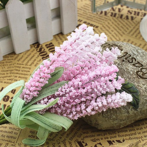 MAZIMARK--10pcs Artificial Fake Flower Lavender Wedding Party Home Garden Decor 15cm Free (pink)