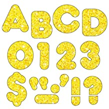 Trend Enterprises T-1616BN 4 in. Casual Sparkle Ready Letters, Yellow - Pack of 6