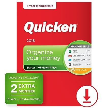 amazon com quicken starter 2018 14 month personal finance