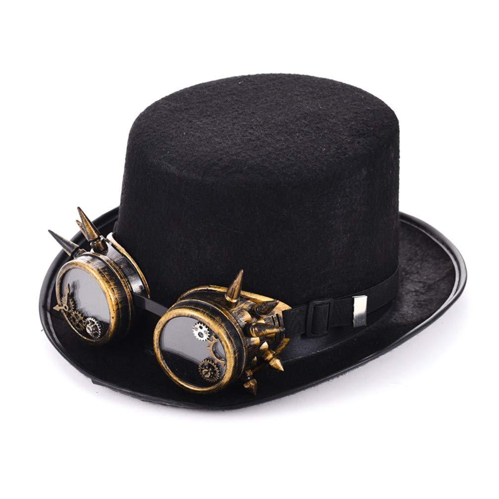 FRTZFBTCP Chapeaux Steampunk DéguiseHommests Gothiques Vintage Rétro Cosplay Accessoires Chapeau Fait Main pour Hommes