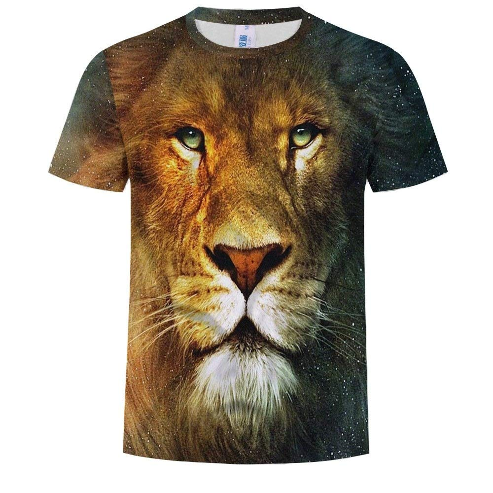 NANWUGAO 3D T-Shirts Crewneck Short Sleeve Casual Animal Graphics Printed Tees Tops Short Sleeve Tees