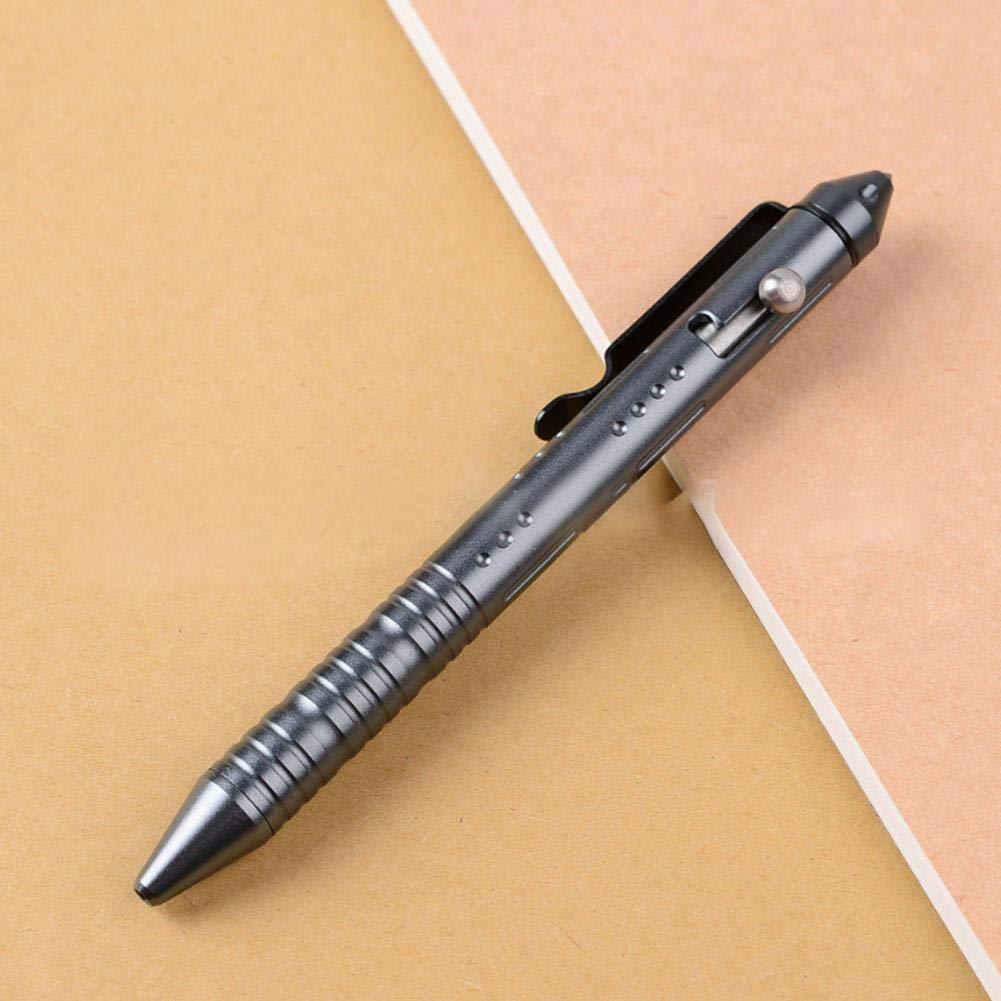 robust und praktisch Glasbrecher Kopf aus Wolframstahl LIANA IRWIN Aluminiumlegierung 6061 Tactical Pen Au/ßen Notwehr Stift