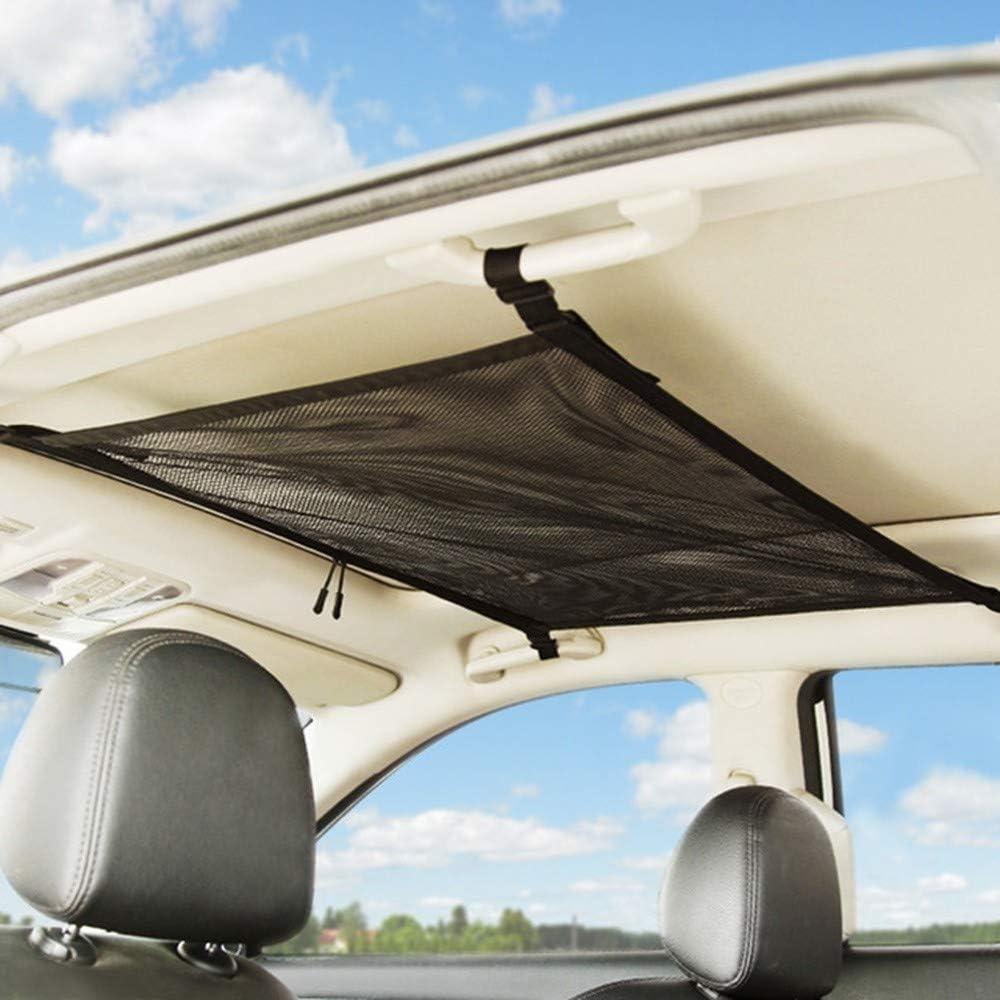 Car Storage Net Pocket Bag Breathable Mesh Bag Car Trunk Storage Organizer Sundries Storage Bag for most Cars AILOVA Car Ceiling Storage Net Pocket