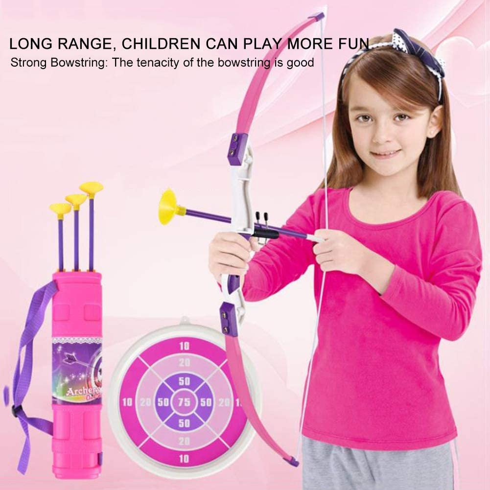 VGEBY Kinder Bogenschie/ßen Spielzeug Pfeil Clip Kinder Pfeil und Bogen Schie/ßen Spielzeug Set Fun Game mit Ziel Saugnapf Pfeil Pfeil Halter