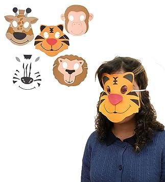 Máscara Zoo Animal de espuma - Una Colección De Espuma Máscaras con las caras felices Zoo