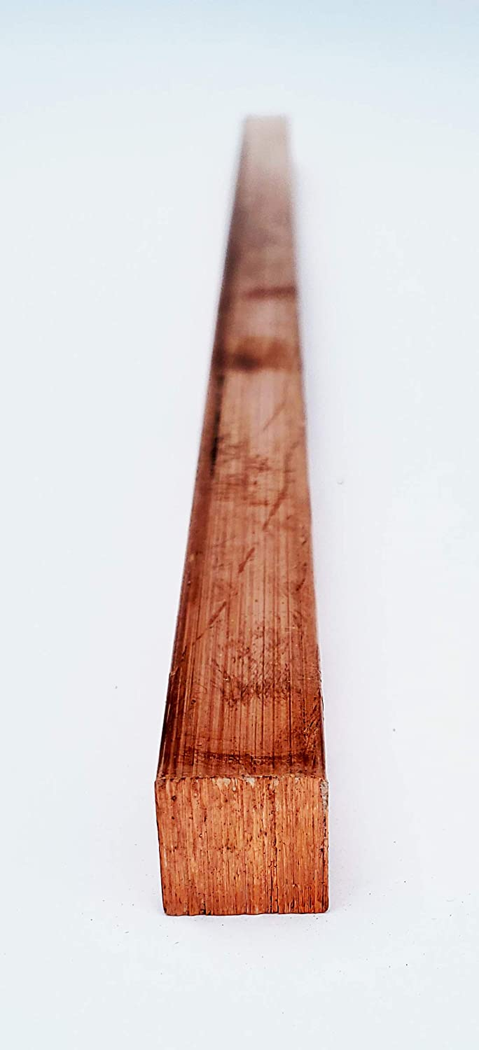 1 Piece. DIY Ranch Copper Square Bar C110 HO2 Half Hard Cold Drawn 1//2 inch 12 inches Long Unpolished Diameter 0.5 Made in USA Mill Finish