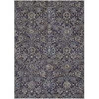 Couristan Easton Winslet Runner Rug, 27 x 710, Navy/Sapphire