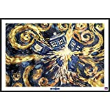 "Doctor Who - Framed TV Show Poster / Print (Dr. Who - Van Gogh's Exploding Tardis) (Size. 36"" x 24"")"