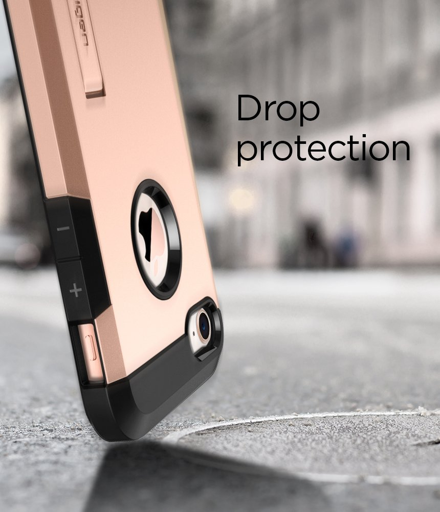 // iPhone 7 Case 2016 Spigen Tough Armor 2 Works with Apple iPhone 8 Case - Rose Gold 2017