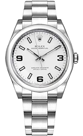 pretty nice 3632c 0f2de Amazon | Rolex Oyster Perpetual 114200ホワイトダイヤル904l ...