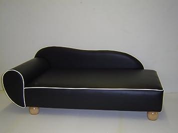 Perros sofá Sandy cama para perros perro Sofá piel sintética Perros sofá negro/L: Amazon.es: Productos para mascotas