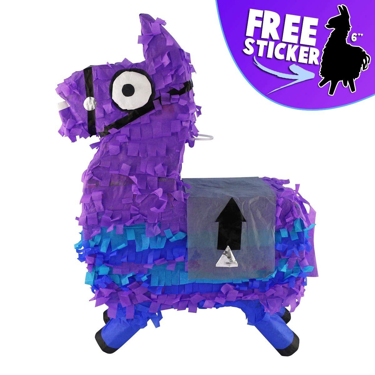 Aurabeam Loot Llama Party Pinata (Purple Loot Llama Piñata) Hand made in Mexico by Aurabeam