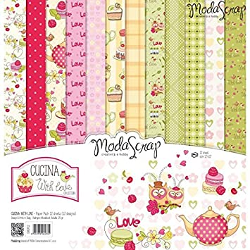 ModaScrap Paper Line - Scrapbooking Cucina with love 12x12 ...