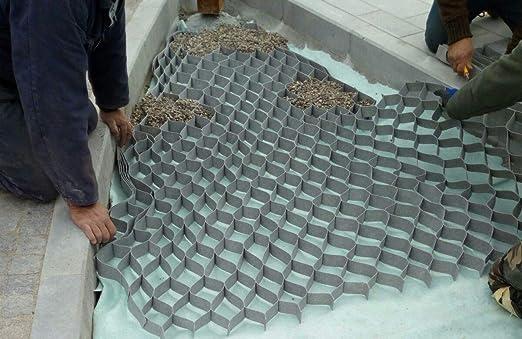 Geocelda Estabilizador de gravilla 5x10x10 - 10 m2 (6, 99 €/m2 ...