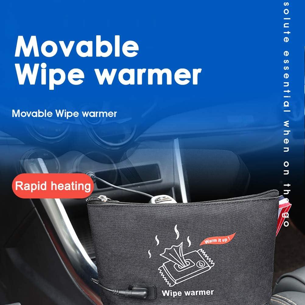 Chauffe-lingette portable sac de chauffage de thermostat de charge dUSB avec Support de chauffage de lingette de thermostat de poche de lingette humide de v/éhicules de voiture de b/éb/é de v/éhicule