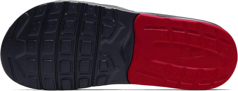 Nike Men's Air Max Camden Slide Sandal Black/University Red/Team Red/White