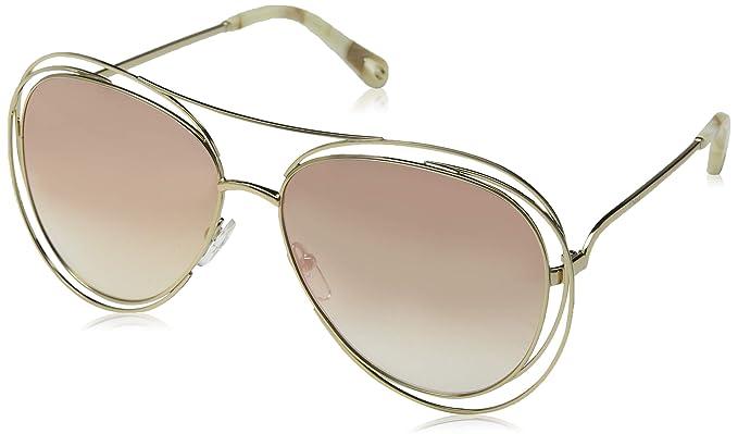 Chloé Ce134s, Gafas de sol para Mujer, Gold/Marble/Revo ...