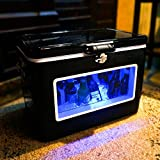 BREKX 54QT Black LED Party Cooler with Window