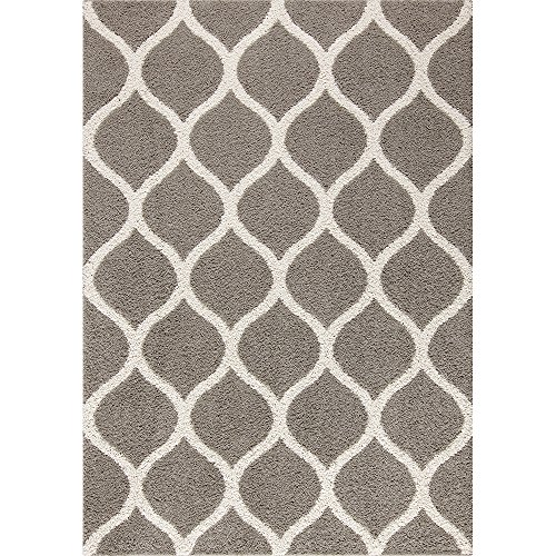Area Rugs, Maples Rugs [Made in USA][Cassie] 7' x 10' Non Slip Padded Large Rug for Living Room, Bedroom, and Dining Room - Greystone by Maples Rugs