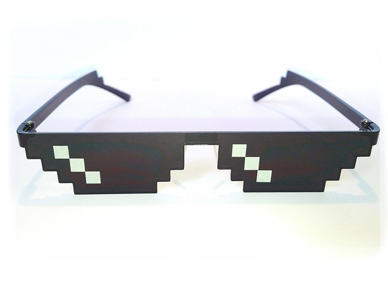 ILOVEDIY Lunette Thug Life Noir Glasses 8 Bit Pixel Deal with It Sunglasses Lunettes de Soleil Unisexe Jouet (3 pixels) bR8dYqMP