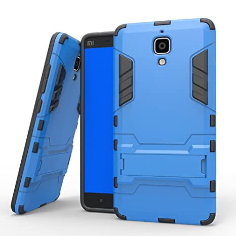 DWay Xiaomi Mi 4 Armor Funda Hybrid Design con Stand-up Feature 2 In 1 Combo Dual Layer Detachable Protective Shell Phone Hard Espalda Funda Carcasa ...