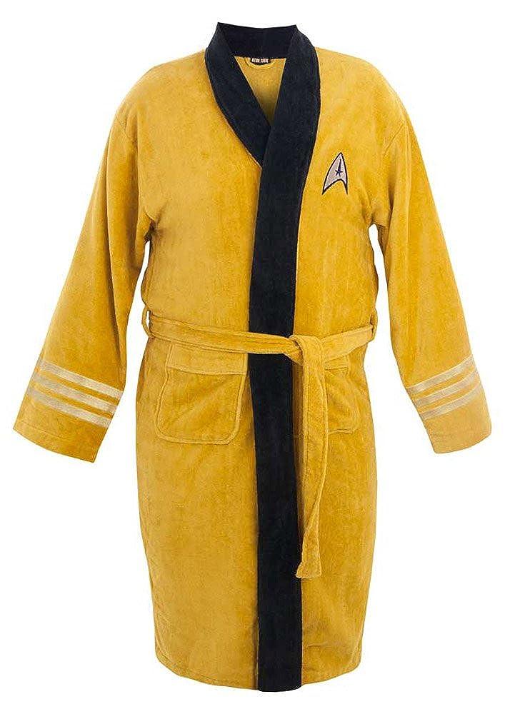 Star Trek Adult Captain Kirk Fleece Costume Bath Robe (Yellow, One Size) Robe Factory