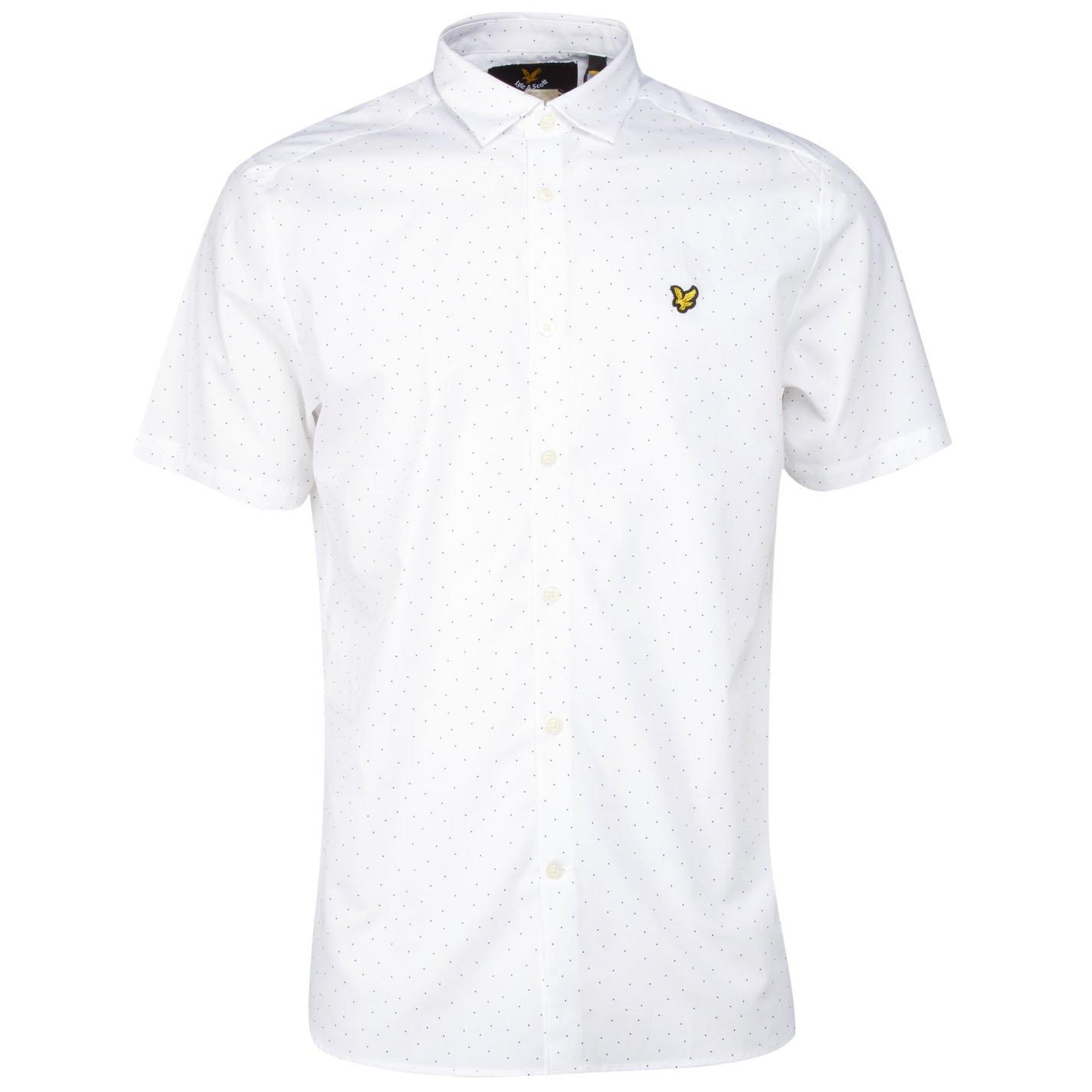Lyle & Scott Mini Square Dot Camisa Casual, Multicolor (White 626 ...