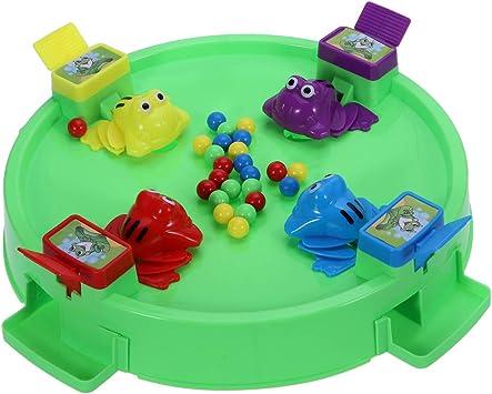 Toyvian Juego Ranas comebolas tragabolas Juego de Mesa (24 Frijoles): Amazon.es: Juguetes y juegos