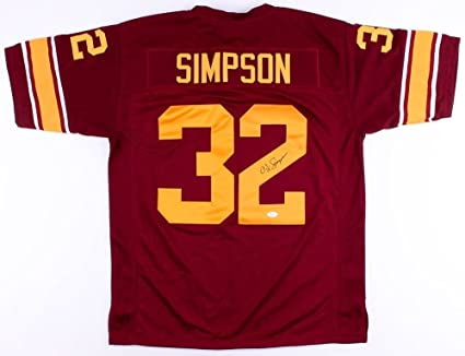 new style 49443 f68fa O.J. Simpson Signed USC Trojans Jersey (JSA COA) at Amazon's ...