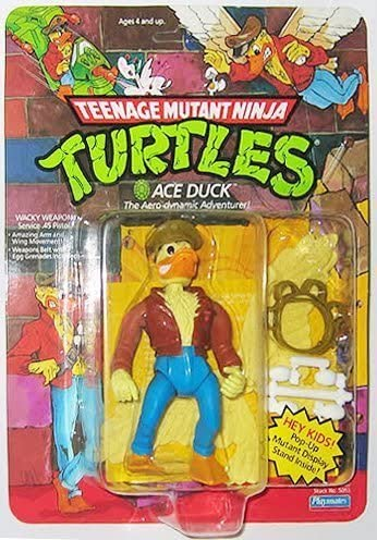 TEENAGE MUTANT NINJA TURTLES TMNT ACE DUCK 100/% RARE
