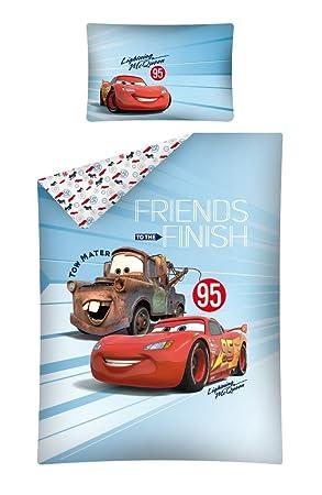 Disney Cars Baby Bettwäsche 100x135 Cm Kissen 40x60 Cm 100