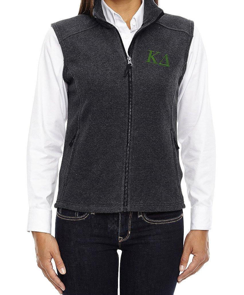 Amazon.com: kys Kappa Delta Sorority Chaleco de forro polar ...